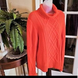 J Crew Cable Turtleneck Sweater NWOT